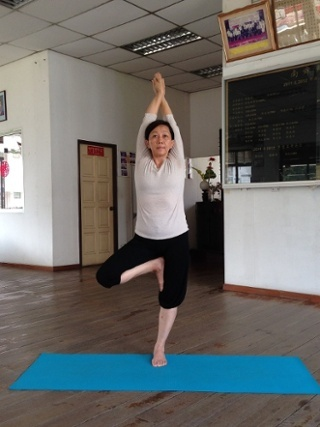 June believes in the benefits of yoga for the elderly