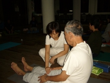 One of the benefits of yoga for the elderly is flexibility.