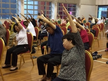 Those who not flexible can still get the benefits of yoga through Chair Yoga.