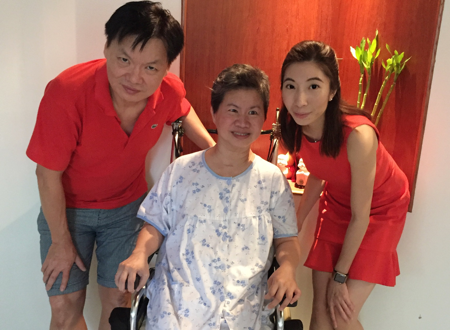 Speech therapy helps stroke patient Amy eat and speak again