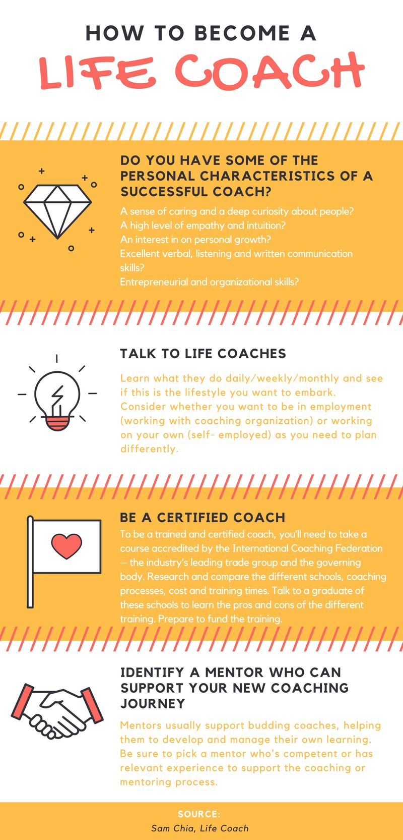 We share some advice on how to become a life coach