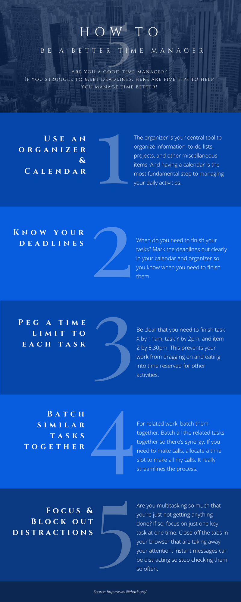 Here are five ways on how to be a better time manager!