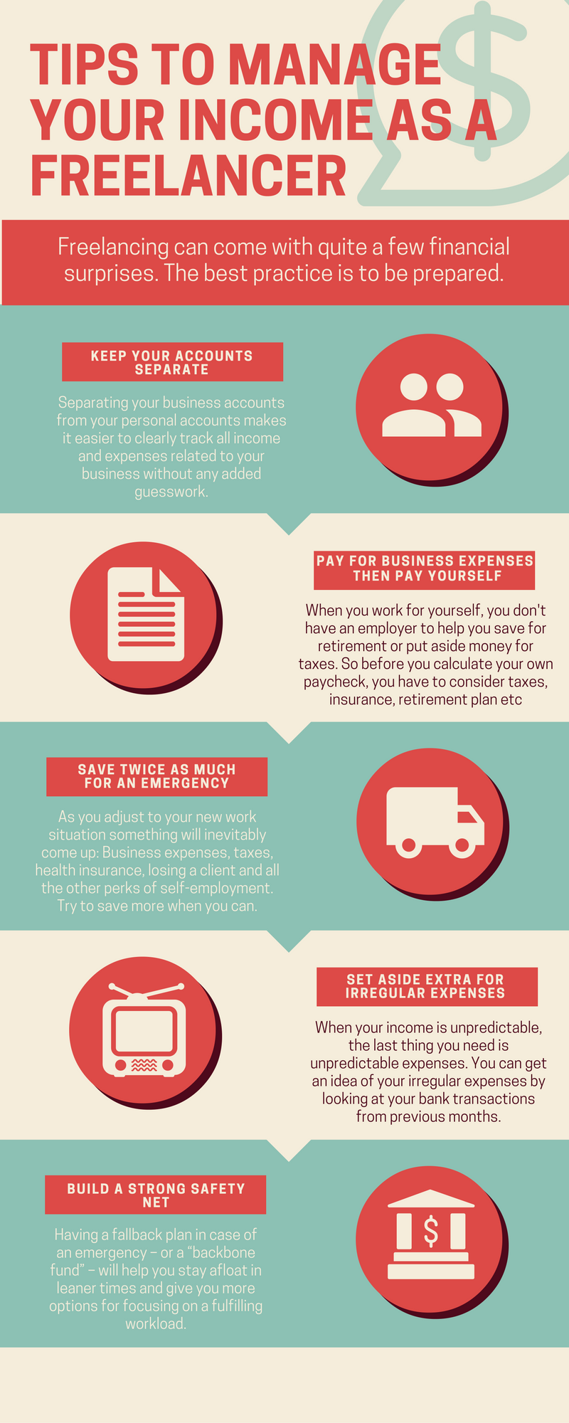 Tips to Manage Your Income as a Freelancer