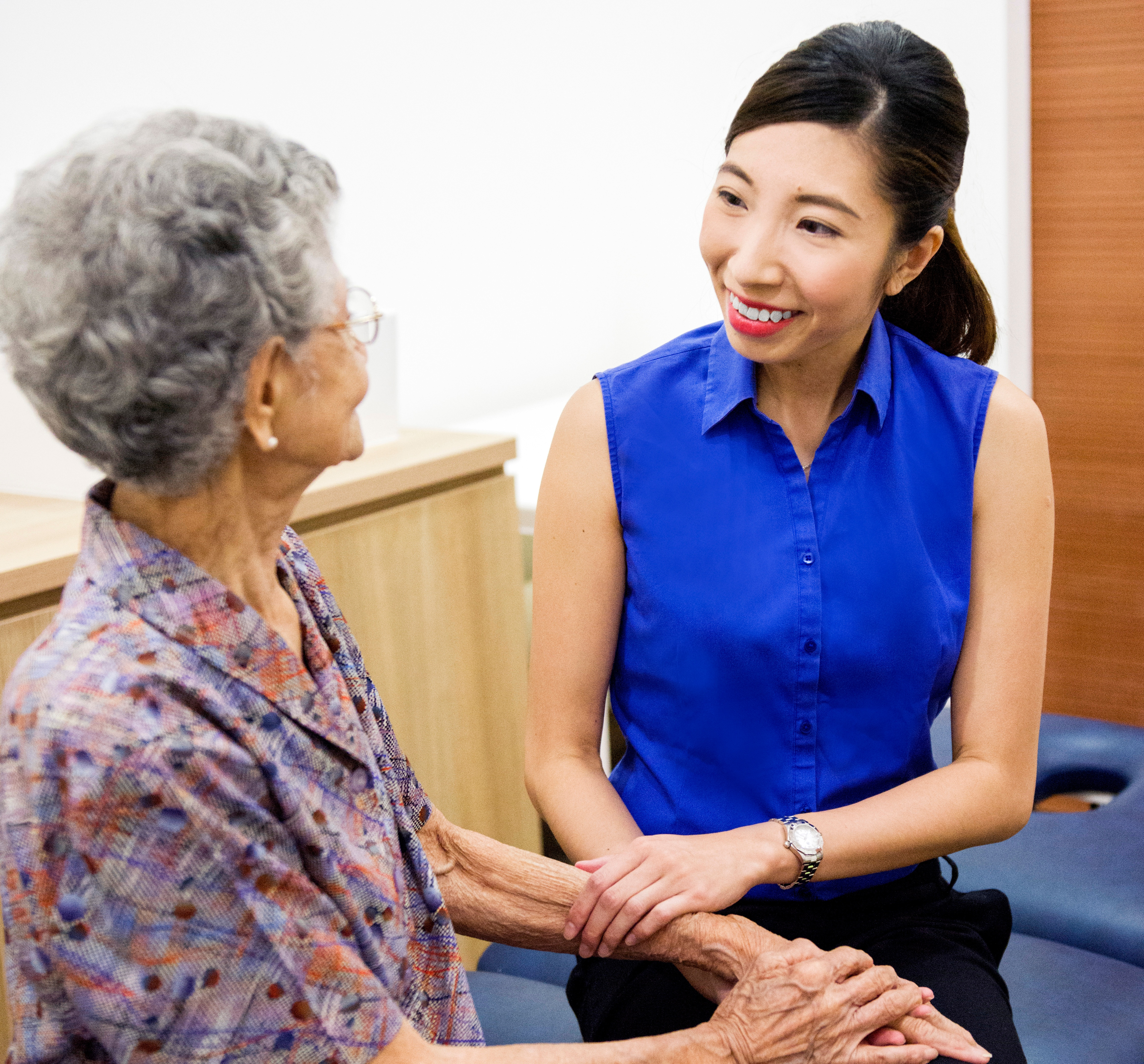 Therapist helps people with talking problems