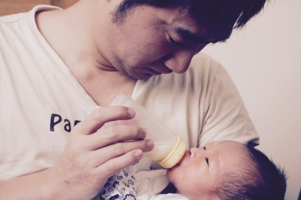 Daddy Feeding Baby with Love!