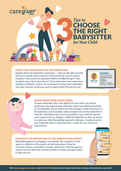 Infographic - Three Tips to Choose the Right Babysitter for Your Child