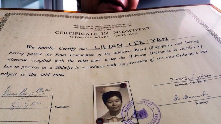 Lilian's Certificate of Midwifery