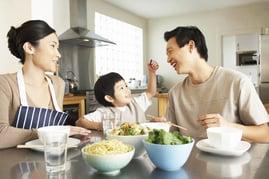 Establish healthy eating habits as a family.