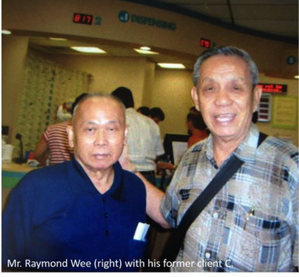 Uncle Raymond has years of experience as a Caregiver including care companion