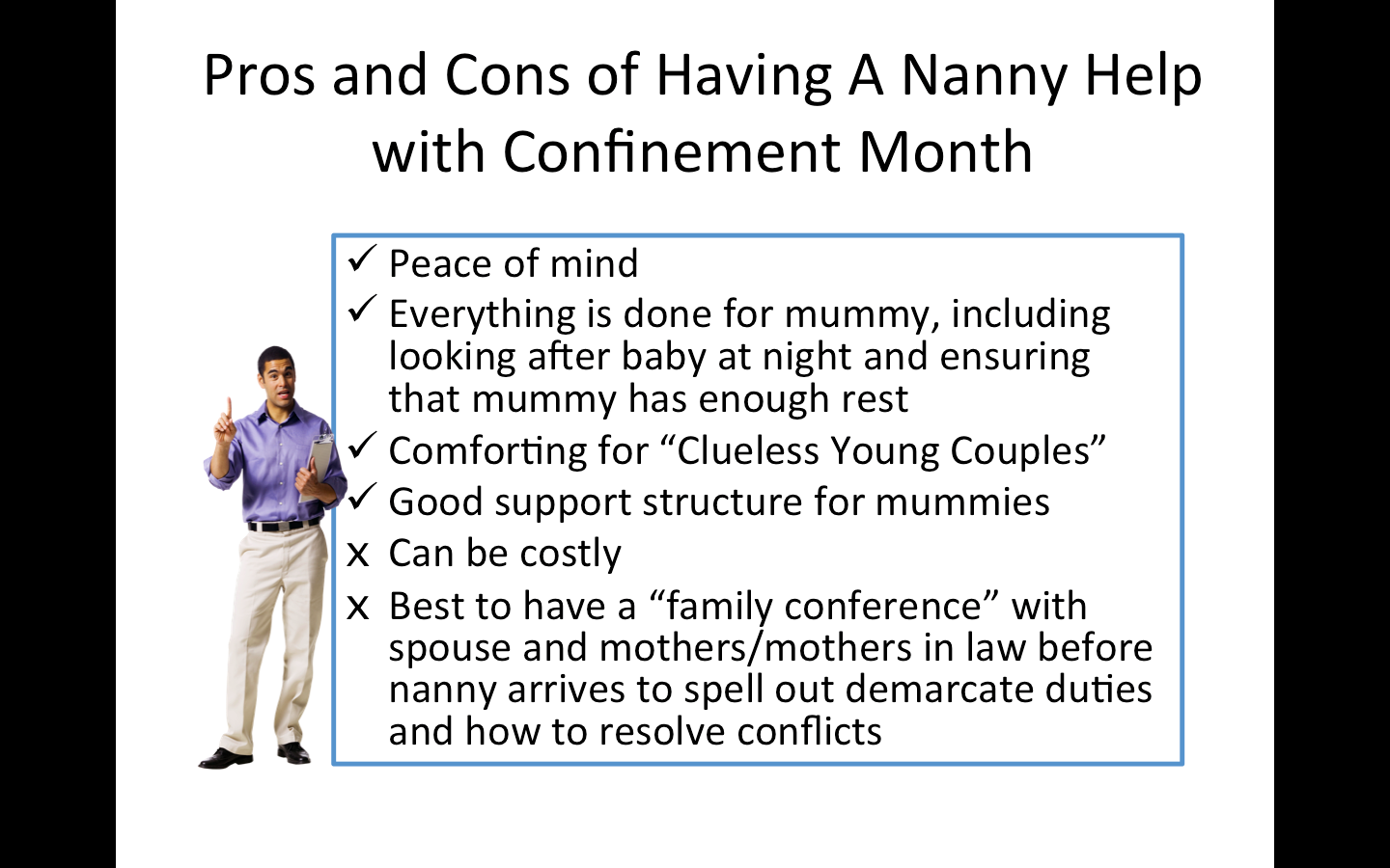 Pros and Cons of Having A Confinement Nanny Help during Confinement Month