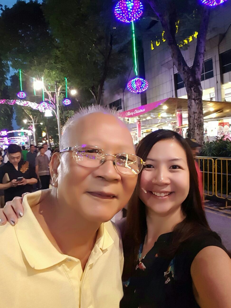 Caregiver Rachel Yeong and her Father!