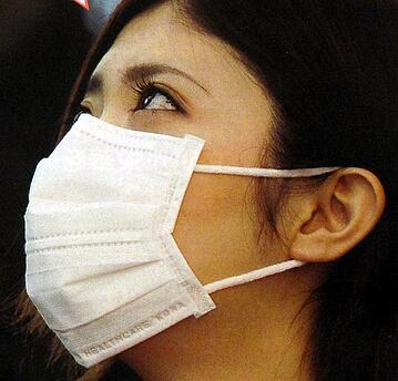 face masks are used to prevent large particle droplets from entering our nose and mouth.