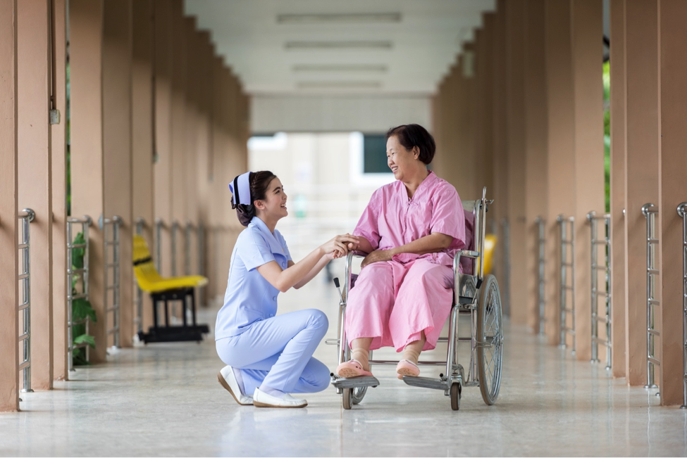 Nurse clinicians interact with patients on a one-on-one basis