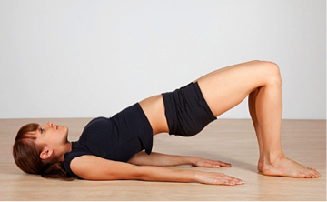 Bridge pose is a good yoga exercise for the abs