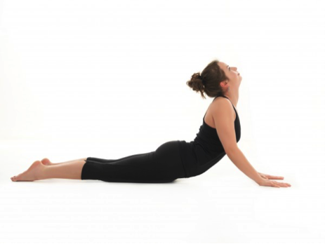 Cobra pose is a great exercise for strengthening the back