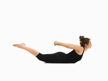 Work your glutes with this simple yoga pose